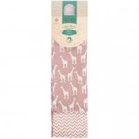Mulltücher Doppelpack Giraffen 80 x 80 rosa