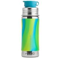 Edelstahl Sportflasche Sportverschluss 325 ml grün blau