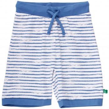 Leichte Kinder Shorts Streifen blau