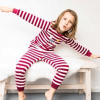 Weicher Frottee Schlafanzug Rehe weinrot
