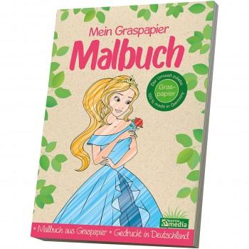 Mein Graspapier Malbuch - Prinzessin