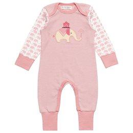 Niedlicher Elefanten Baby Strampler rosa
