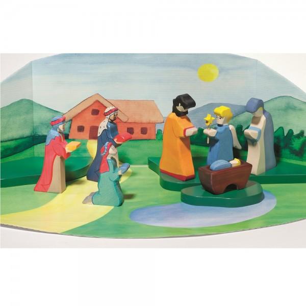 Holzfigur Spiellandschaft - auf dem Bauernhof