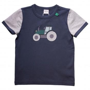 Shirt kurzarm Traktor-Druck dunkelblau