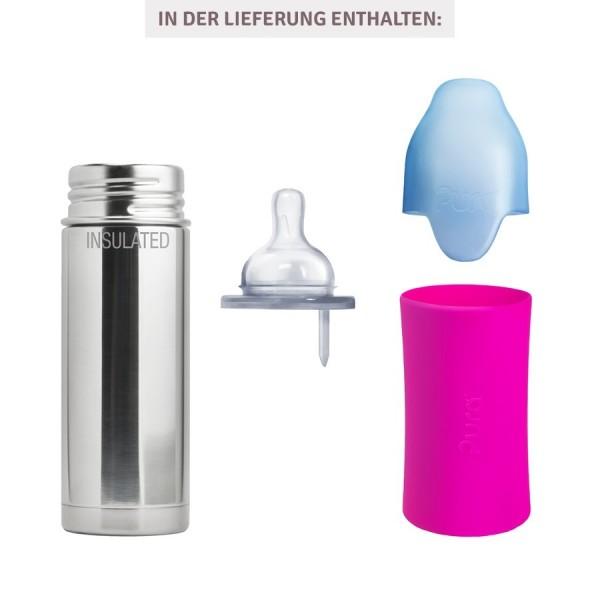 Thermo Babyflasche Lochgrösse mittel pink