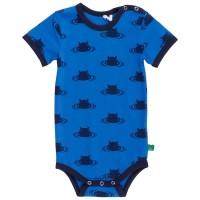 Bio Nilpferd kurzarm Body blau