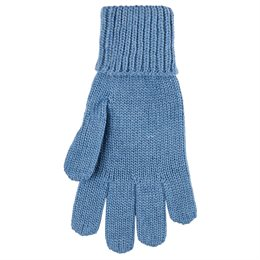 Fingerhandschuhe Wolle Seide cloud blue