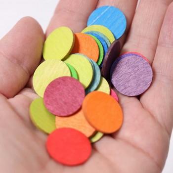120 Konfettitaler bunt Kindergeburtstags Deko