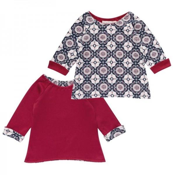 Wendeoberteil für Babys und Kinder Retro rot für Mädchen