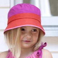 Vorschau: Eleganter Sommer Fischerhut Mädchen Blume