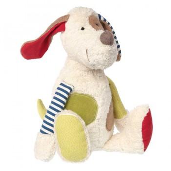 Stofftier Hund Patchwork 30 cm