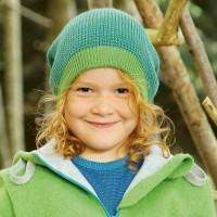 Long Beanie Strickmütze mitwachsend 2 -14 Jahre grün