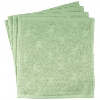 Frottee Waschlappen 4er-Pack in hellem grün