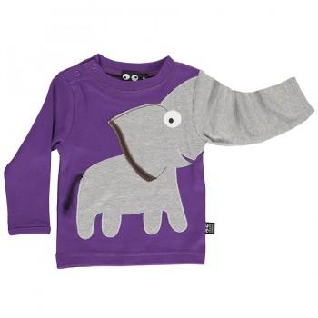 Cooles Elefanten Shirt robuster Interlock lila