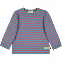 Dickeres Jersey Shirt türkis/orange langarm