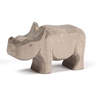 Holz Baby Nashorn Holzfigur 5,6 cm hoch