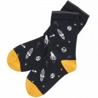 Jungen Socken Weltall in schwarz