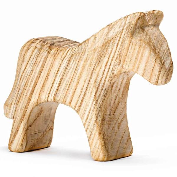 Holztier unbehandelt Pferd für Kleinkinder 8,5 cm hoch