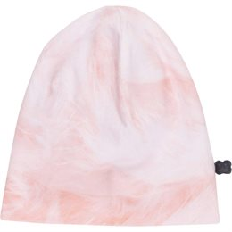 Seidig glatte leichte Kindermütze rosa
