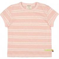 Leichtes Leinen Shirt kurzarm Streifen rosa