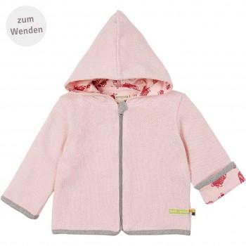 Strick Wendejacke Waldtiere rosa