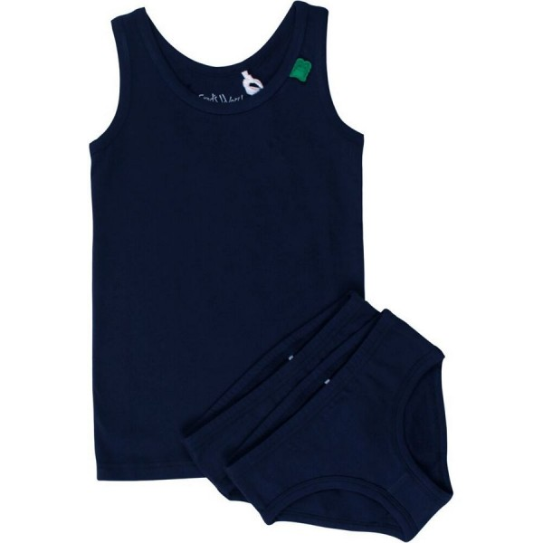 Set Girl 1 Unterhemd 2 Slips navy