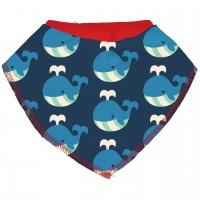 Dreiecktuch Wale in dunkelblau