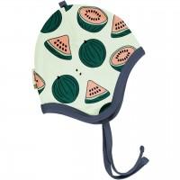 Babymütze leicht mit Ohrenschutz Wassermelonen in grün