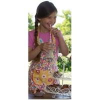 Vorschau: Kinderschürze Kochschürze zum Wenden gelb