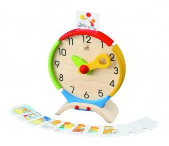 Uhr zum Lernen der Uhrzeit mit Aktivitäten