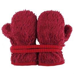 Teddy Plüsch Handschuhe Biobaumwolle rot
