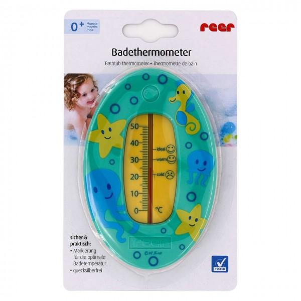 Badethermometer mit übersichtlicher Skala grün