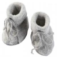 Warme Fleeceschuhe Schurwolle grau