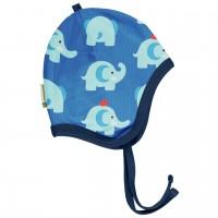 Babymütze leicht mit Ohrenschutz Elefanten