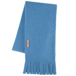 Wolle Fleece Kinderschal eisblau