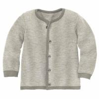 Leichte warme Strickjacke Wolle atmungsaktive grau