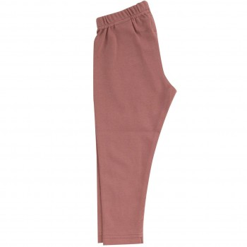 Lange uni Leggings in rosa
