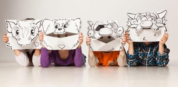 Masken - Hund & Pony zum Stecken, malen & spielen