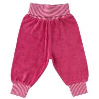 Babyhose Frottee pink Bündchen