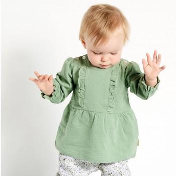 Elegantes Langarmshirt pastell-grün