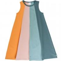 Sommerkleid Ärmellos Streifen-Look 4-farbig