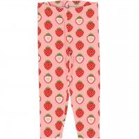 Leichte 3/4 Jersey Leggings Erdbeere in rosa