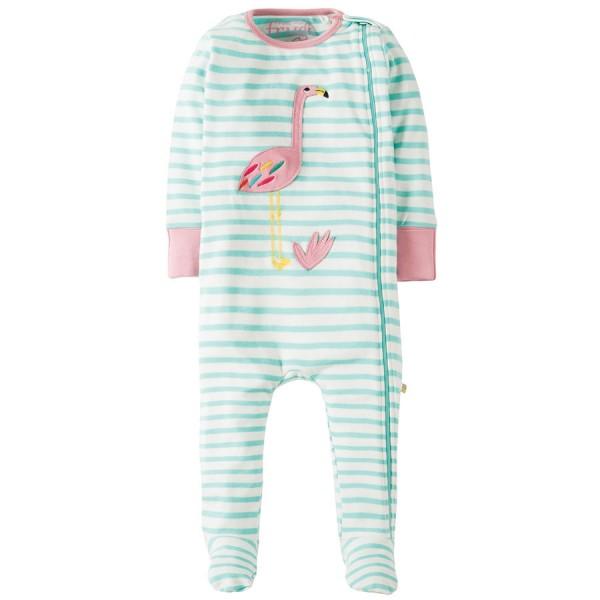 Baby Schlafanzug mit rosa Flamingos