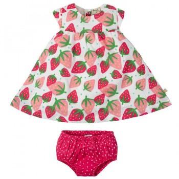 Kleid mit Shorts Erdbeere