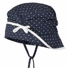 Mädchen Schirmmütze Nacken- & Ohrenschutz marine