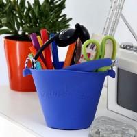 Silikon Eimer Scrunch Bucket blau