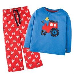 Traktor Schlafanzug dicker Interlock