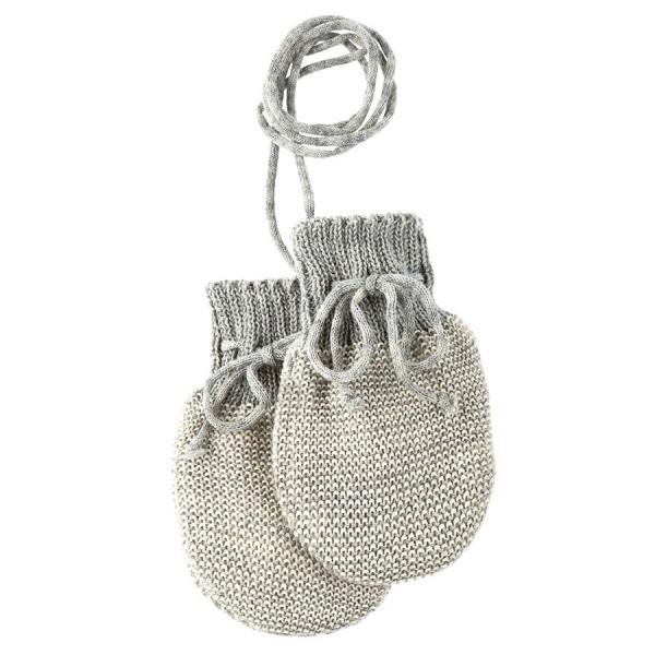 Neugeborenen Strick Handschuhe Schurwolle grau