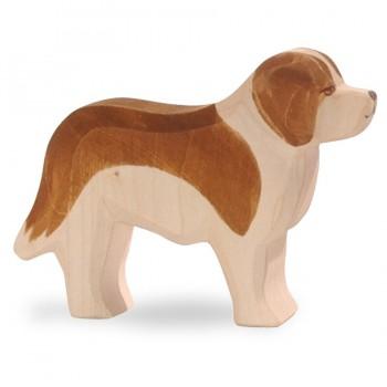 Bernhardiner Holzfigur 8 cm hoch