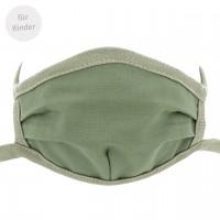 Kinder Mundbedeckung - Wiederverwendbare Maske olive